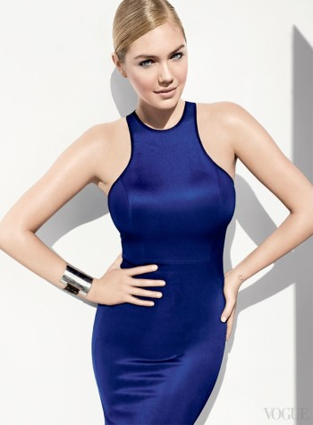 "Kate Upton Shows Off Curves for Vogue, Wants to Avoid Being ""Cheap & Cheesy"""
