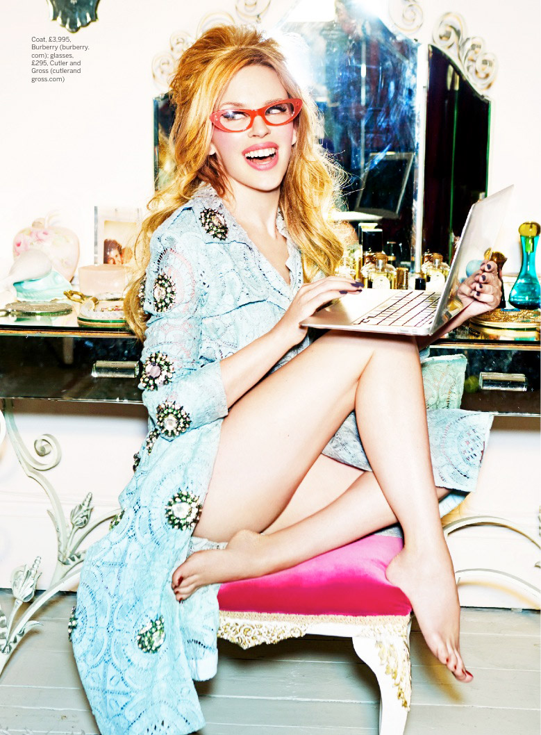 Kylie Minogue Plays a (Not So) Domestic Goddess for Stylist Shoot