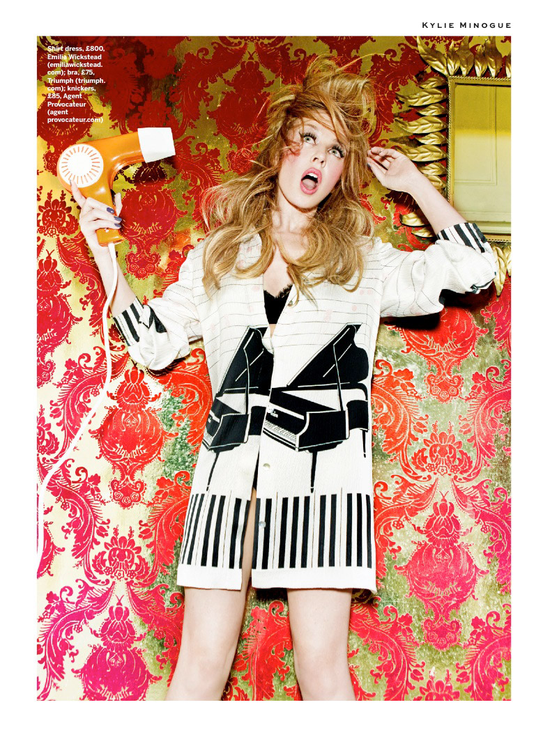 kylie minogue photo shoot3 Kylie Minogue Plays a (Not So) Domestic Goddess for Stylist Shoot