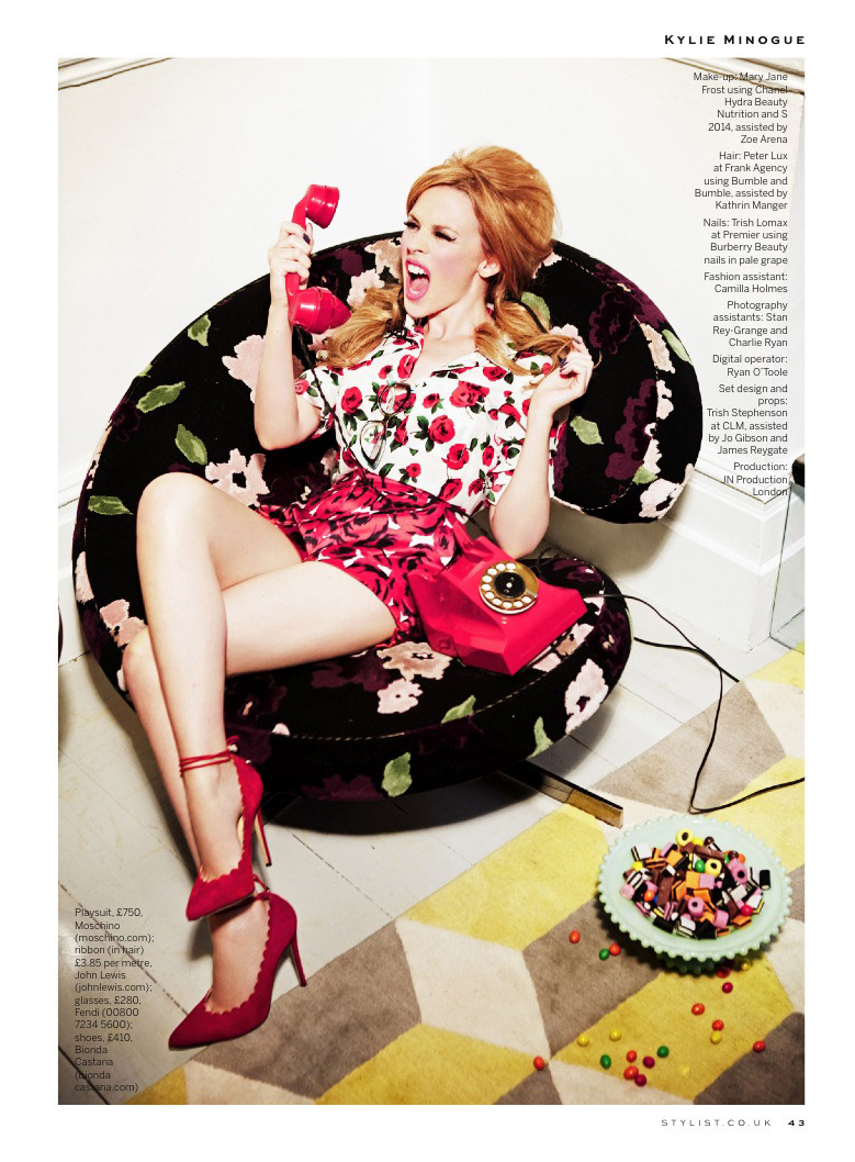 kylie minogue photo shoot5 Kylie Minogue Plays a (Not So) Domestic Goddess for Stylist Shoot