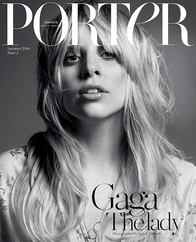 lady gaga inez vinoodh1 Lady Gaga Channels Stevie Nicks for Inez & Vinoodh in Porter Shoot
