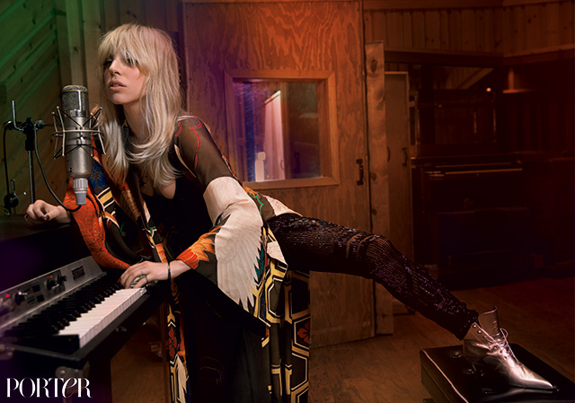 lady gaga inez vinoodh3 Lady Gaga Channels Stevie Nicks for Inez & Vinoodh in Porter Shoot
