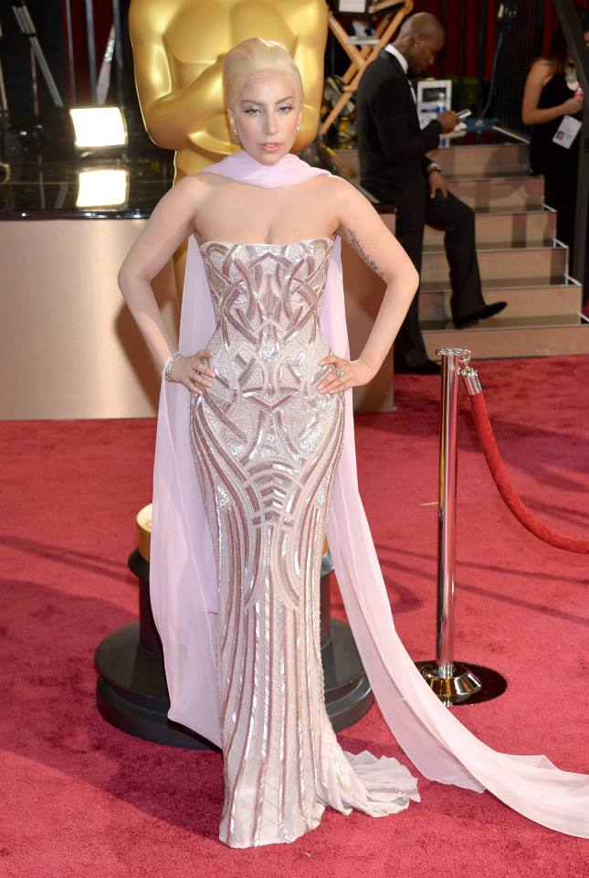 lady gaga versace oscars 2014 Oscars Red Carpet Looks