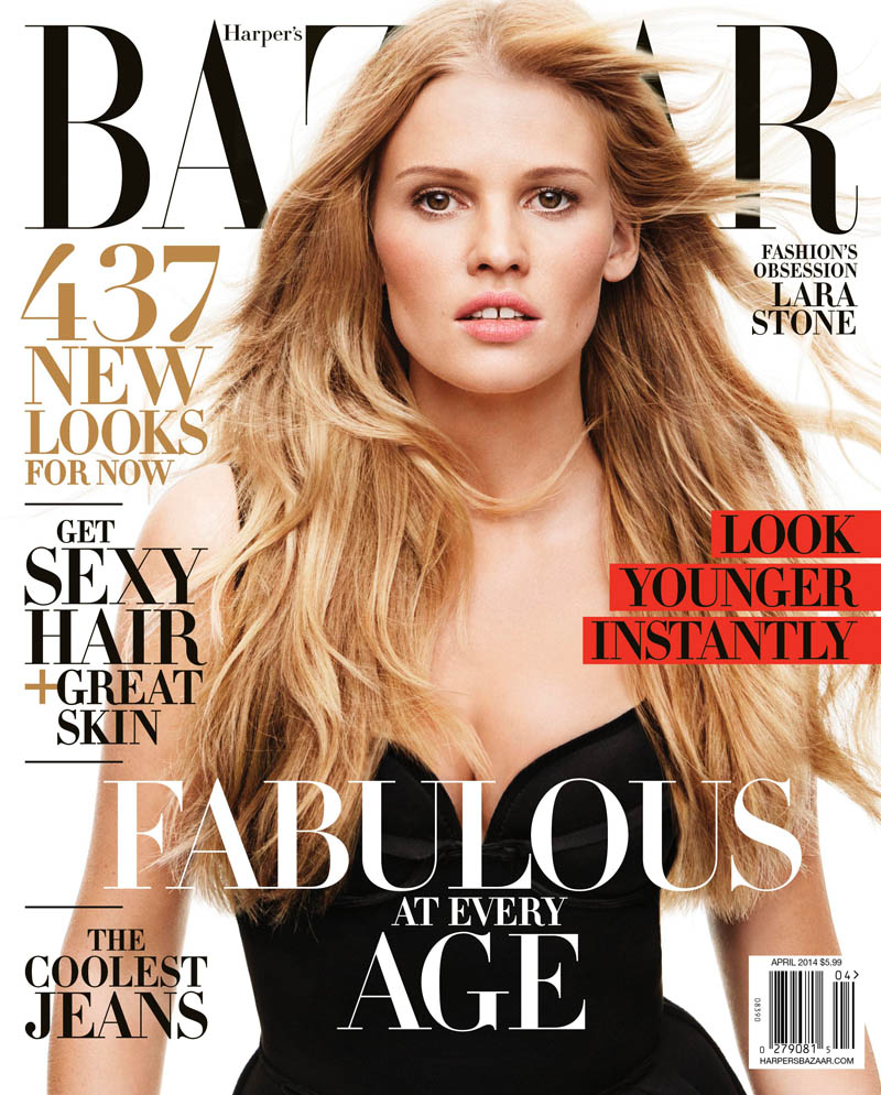 lara stone harpers bazaar1 Lara Stone Covers Harpers Bazaar, Opens Up About 2009 Rehab Stay