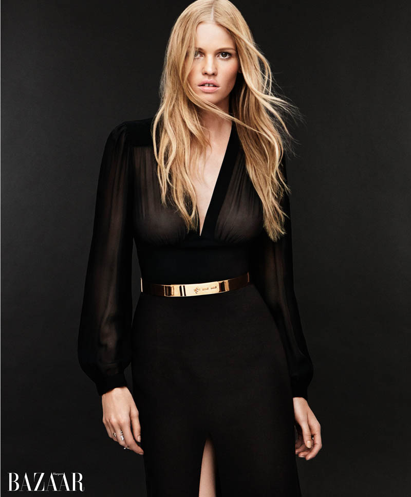lara stone harpers bazaar5 Lara Stone Covers Harpers Bazaar, Opens Up About 2009 Rehab Stay