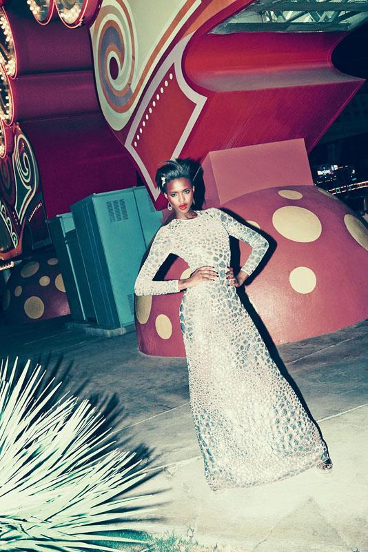 las vegas bergdorf goodman11 Viva Las Vegas! Alima Fofana by Arnaud Pyvka for Bergdorf Goodman Resort 14