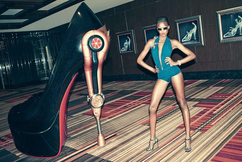 las vegas bergdorf goodman3 Viva Las Vegas! Alima Fofana by Arnaud Pyvka for Bergdorf Goodman Resort 14