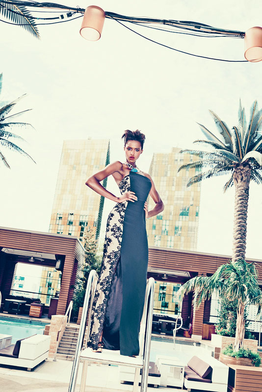 las vegas bergdorf goodman7 Viva Las Vegas! Alima Fofana by Arnaud Pyvka for Bergdorf Goodman Resort 14