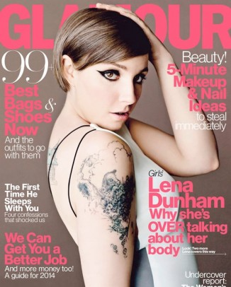 lena dunham glamour1 326x406 Naomi Campbell Says 90s Supermodels Never Starved, Reveals Thoughts on Todays Girls