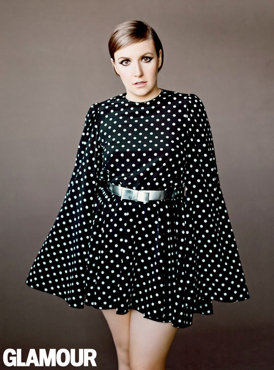Lena Dunham (and Her Tattoos) Cover Glamour April 2014