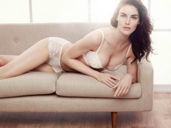 Hilary Rhoda Stars in Lindex Spring 2014 Lingerie Shoot