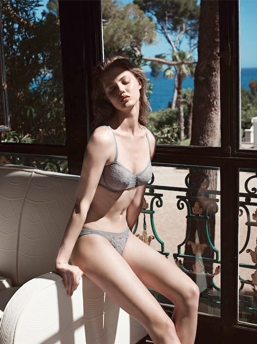 lindsey wixson eres lingerie1 Lindsey Wixson Stars in Eres Lingerie Spring 2014 Campaign