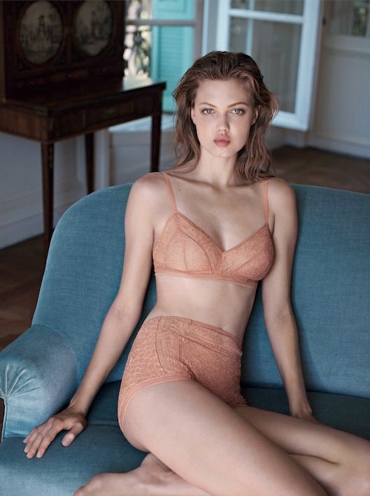 lindsey wixson eres lingerie2 Lindsey Wixson Stars in Eres Lingerie Spring 2014 Campaign