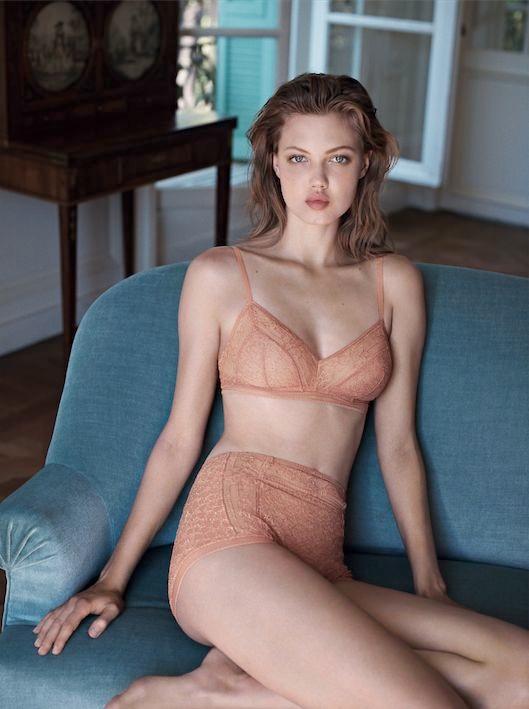 lindsey wixson eres lingerie2 Lindsey Wixson Stars in Eres Lingerie Spring 2014 Campaign
