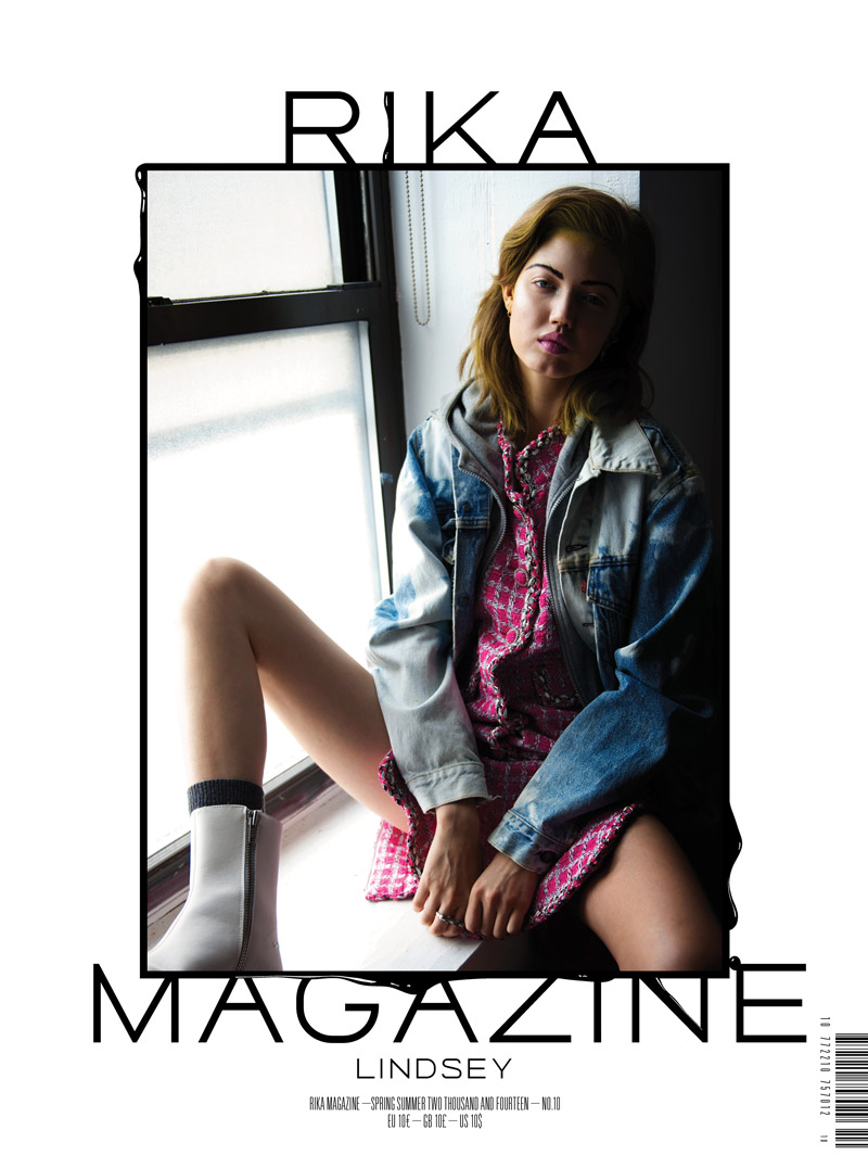Lindsey Wixson Gets Lounge-y for RIKA Magazine by Joachim Johnson