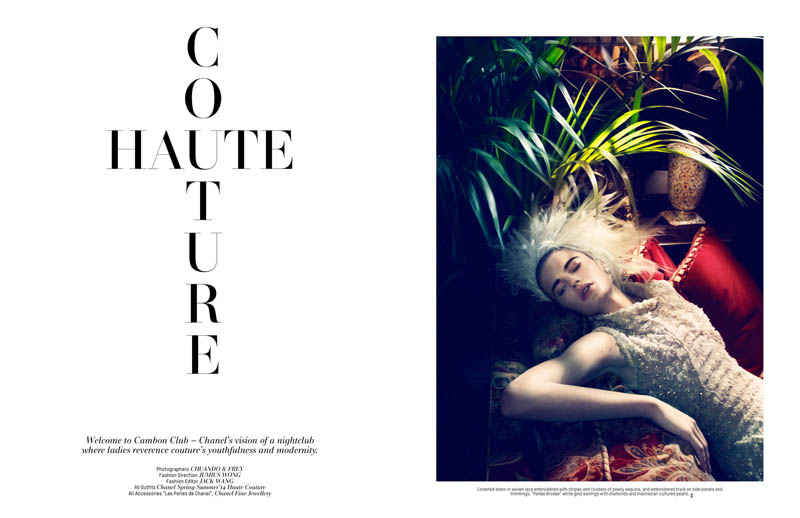 lofficiel singapore anniversary3 Isabel Scholten Wears Chanel Couture in LOfficiel Singapore 7th Anniversary Issue