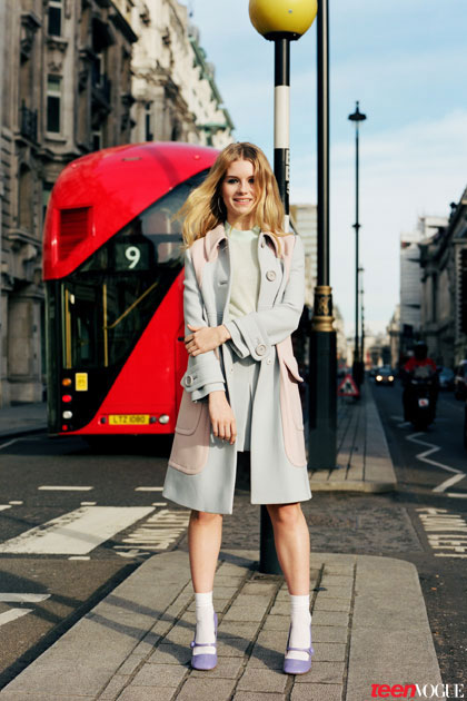 lottie moss 2014 4 Kates Sister, Lottie Moss, Makes Vogue Debut in Teen Vogue Shoot