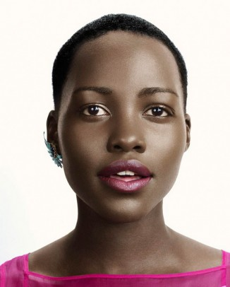 lupita nyongo photo shoot1 326x406 Sara Sampaio is the SI Swimsuit 2014 Rookie of the Year