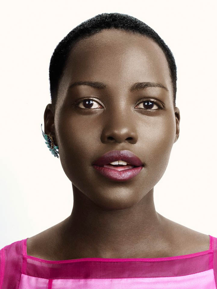 lupita nyongo photo shoot1 Lupita Nyongo Charms for David Slijper in Glamour Beauty Shoot