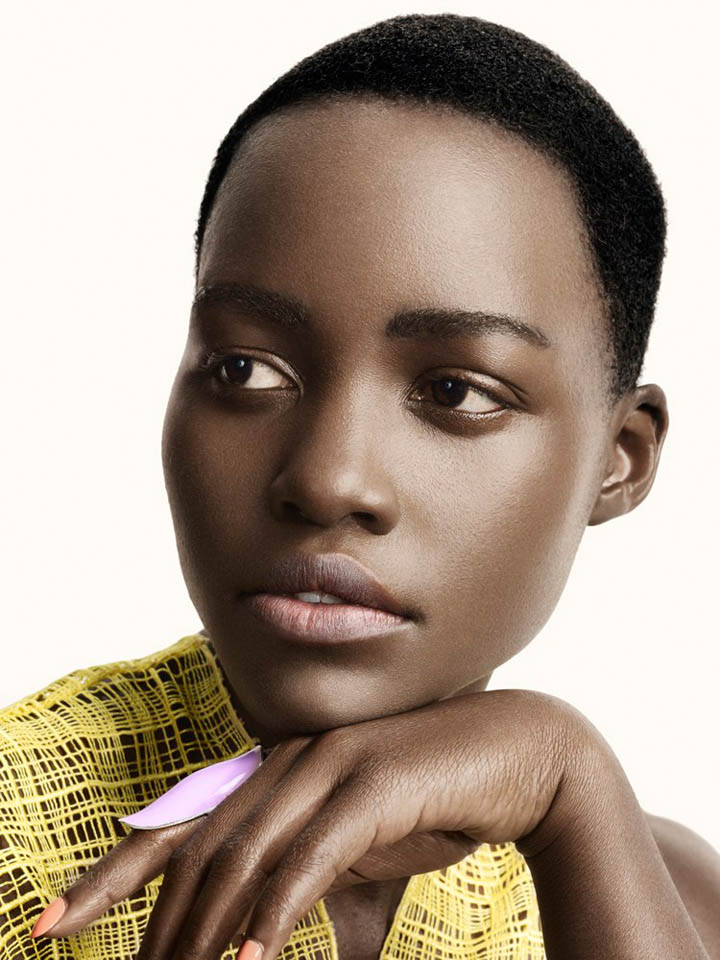 lupita nyongo photo shoot2 Lupita Nyongo Charms for David Slijper in Glamour Beauty Shoot