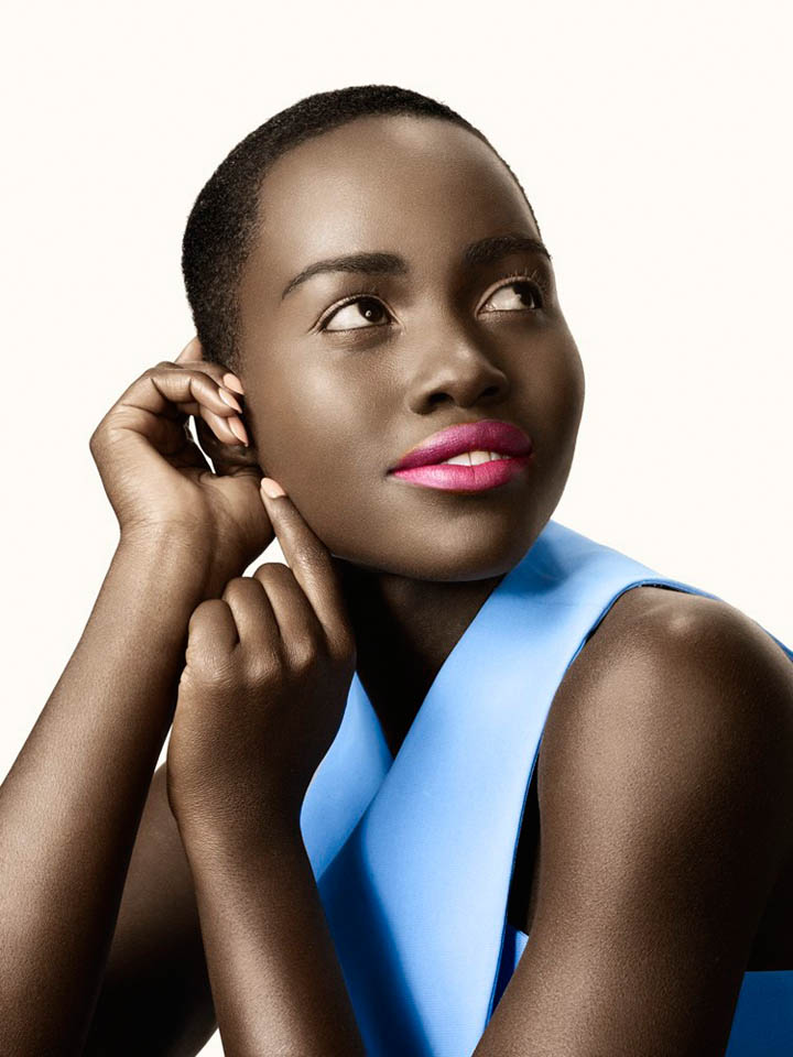 lupita nyongo photo shoot3 Lupita Nyongo Charms for David Slijper in Glamour Beauty Shoot