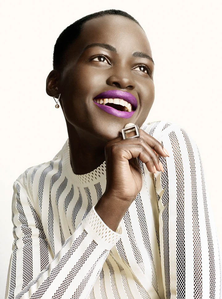 Lupita Nyong'o Charms For David Slijper In Glamour Beauty
