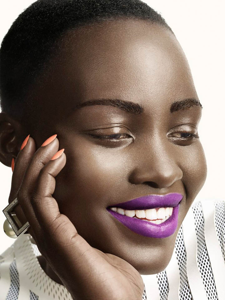 lupita nyongo photo shoot5 Lupita Nyongo Charms for David Slijper in Glamour Beauty Shoot