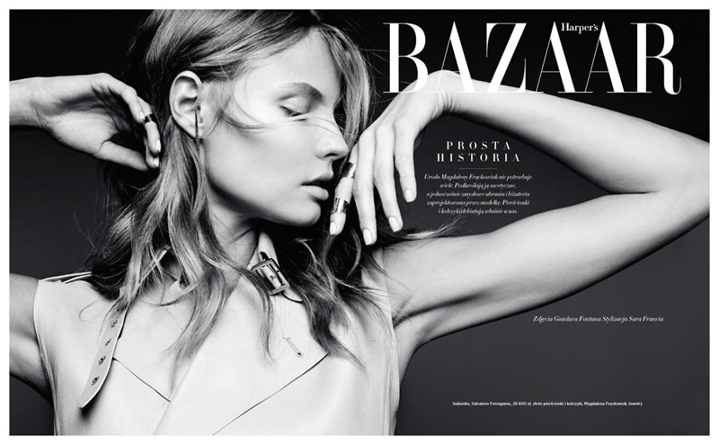 magdalena frackowiak poland1 Magdalena Frackowiak Shows Less is More in Harpers Bazaar Poland Shoot