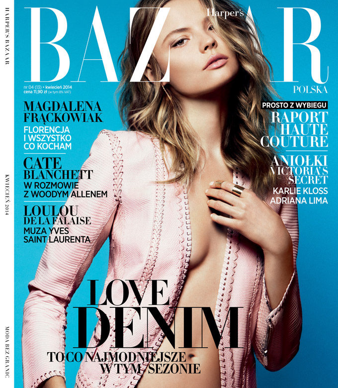magdalena frackowiak poland8 Magdalena Frackowiak Shows Less is More in Harpers Bazaar Poland Shoot