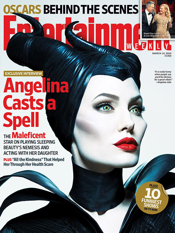 """Angelina Jolie in New """"Maleficent"""" Poster Photographed by Mert & Marcus"""