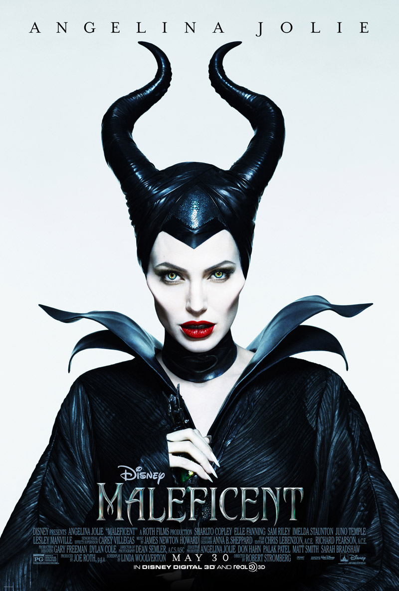 "Image: ""Maleficent"" movie poster with Angelina Jolie"