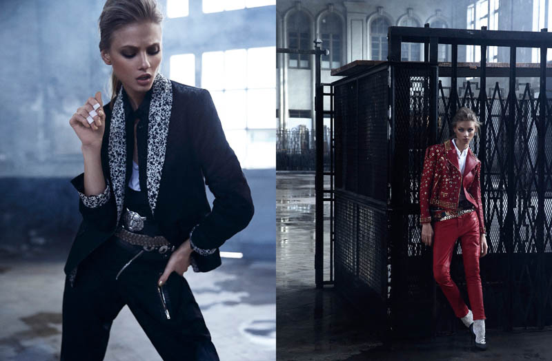 Anna Selezneva is One of the Boys for Mario Sierra in Elle Spain Shoot