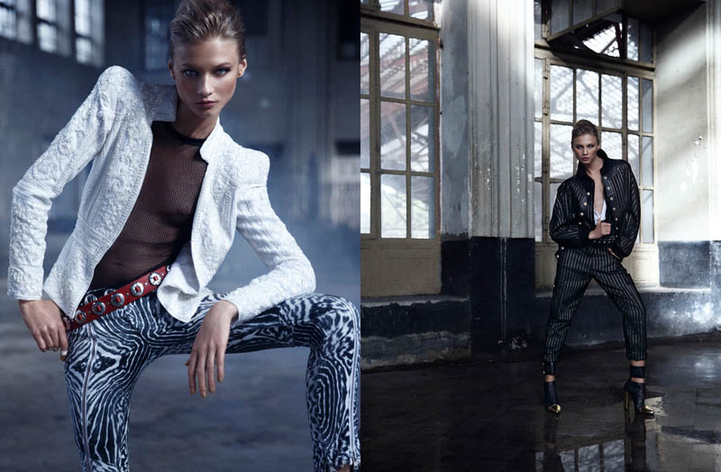 mario sierra anna4 Anna Selezneva is One of the Boys for Mario Sierra in Elle Spain Shoot