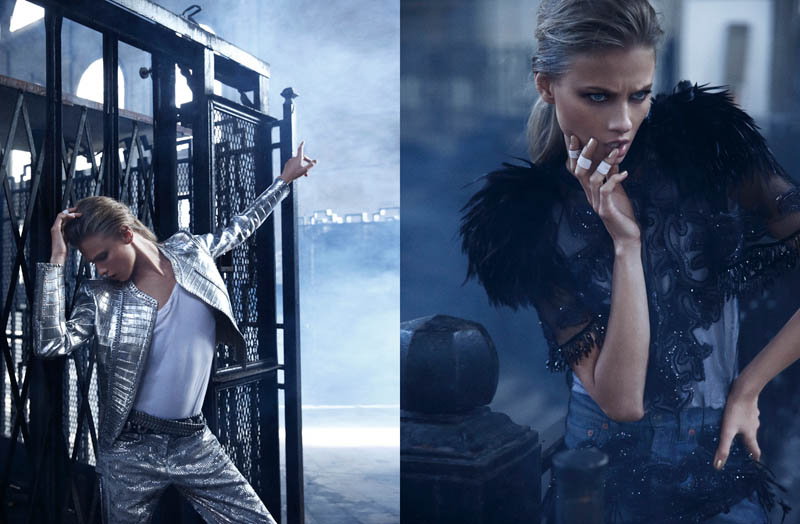 mario sierra anna5 Anna Selezneva is One of the Boys for Mario Sierra in Elle Spain Shoot