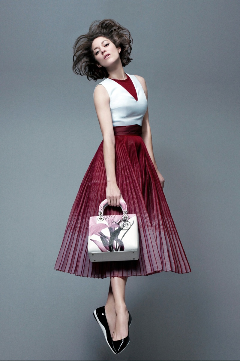 marion cotillard lady dior prefall 2014 Marion Cotillard Jumps, Goes Barefoot in Lady Diors Pre Fall 2014 Campaign