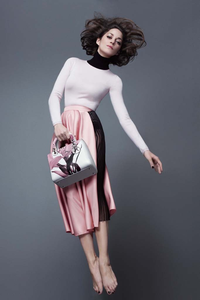 marion cotillard lady dior spring 2014 1 Marion Cotillard Jumps, Goes Barefoot in Lady Diors Pre Fall 2014 Campaign
