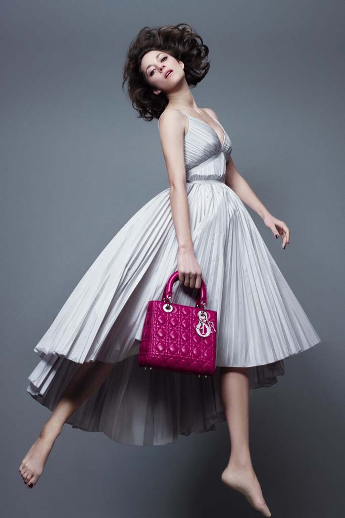 marion cotillard lady dior spring 2014 Marion Cotillard Jumps, Goes Barefoot in Lady Diors Pre Fall 2014 Campaign