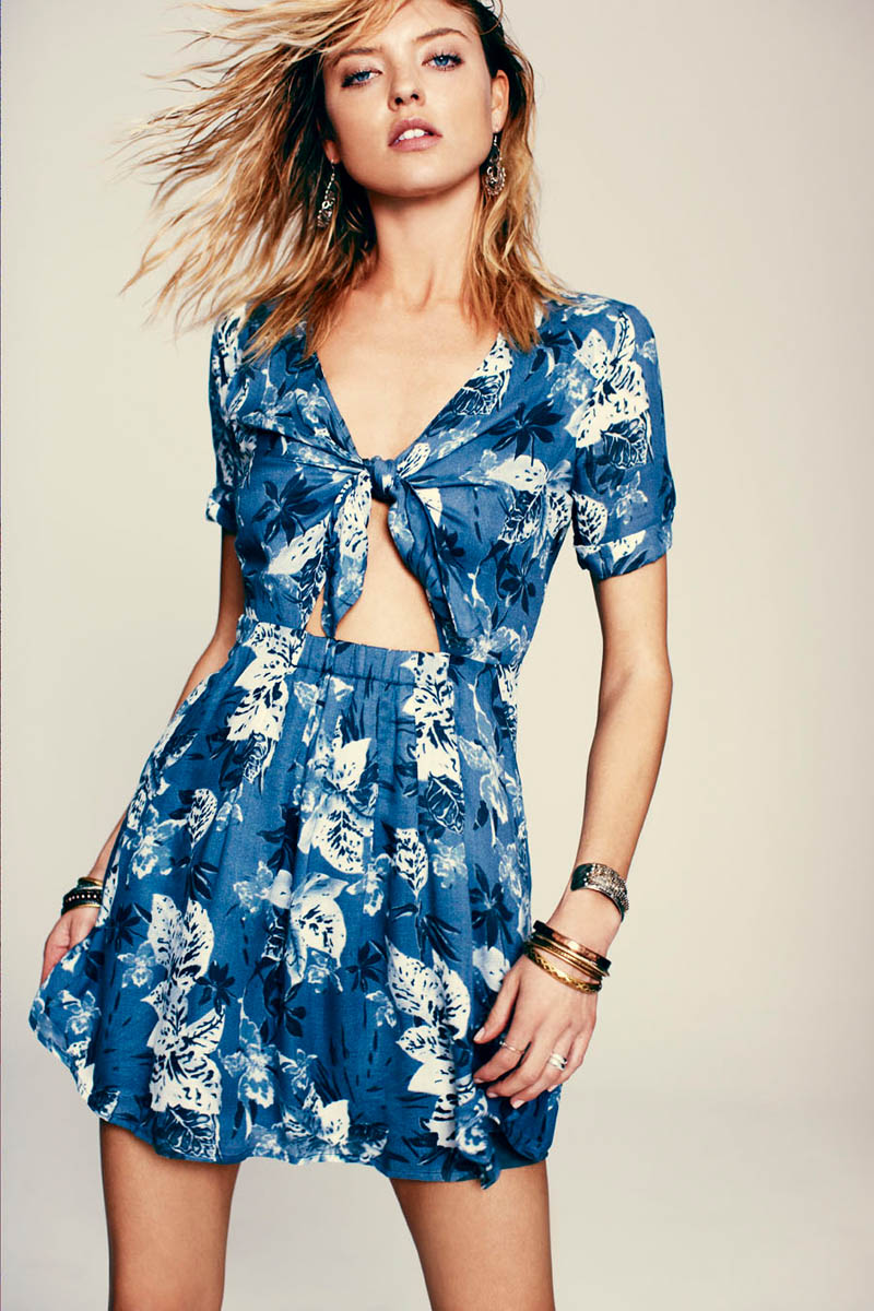 Dual Nature: Martha Hunt Models for Free People's March Lookbook