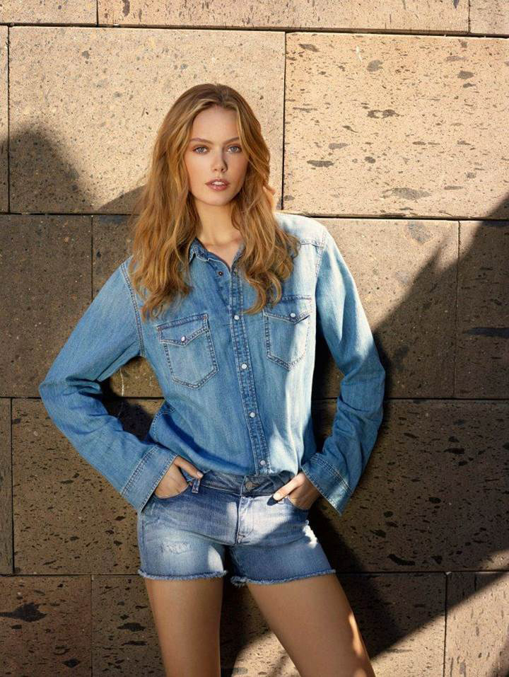 mavi jeans spring 2014 campaign15 Frida Gustavsson & Magdalena Frackowiak Star in Mavi Jeans Spring 2014 Campaign
