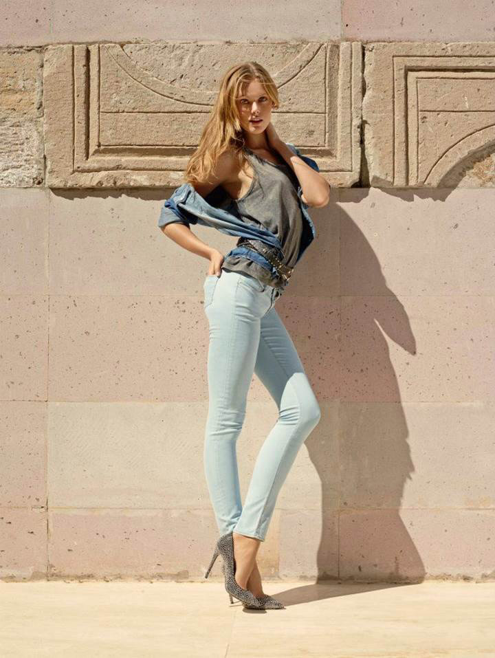 mavi jeans spring 2014 campaign9 Frida Gustavsson & Magdalena Frackowiak Star in Mavi Jeans Spring 2014 Campaign
