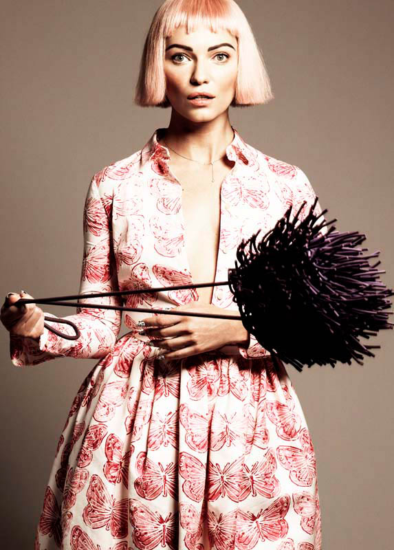 michel comte portraits11 Lydia Hearst, Mini Anden + More Star in Glamour Italia by Michel Comte