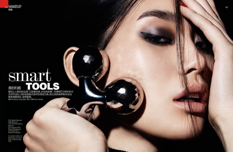 ming xi beauty2 800x522 Ming Xi Stars in Beauty Story for Vogue China by Marcus Ohlsson