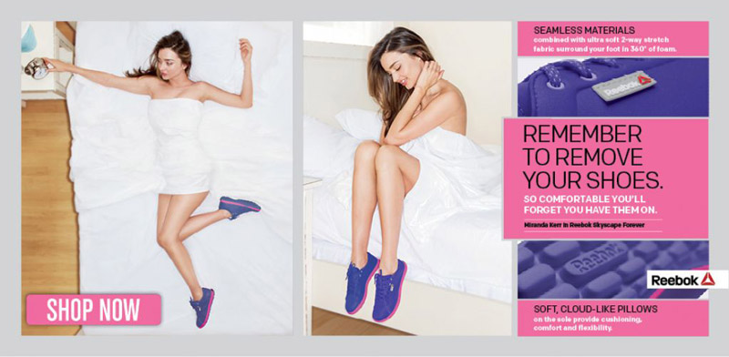 Miranda Kerr Gets Comfy for New Reebok Skyscape Forever Ad