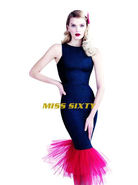 Lily Donaldson Dons Elegant Denim in Miss Sixty Spring '14 Ads