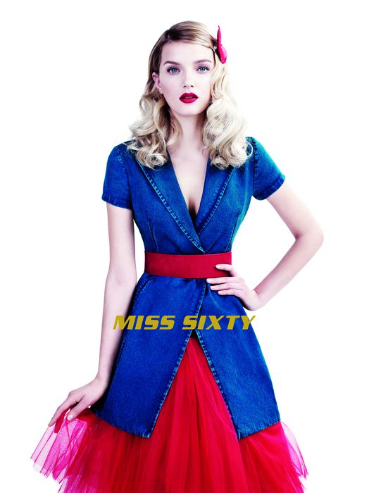 miss sixty spring 2014 campaign3 Lily Donaldson Dons Elegant Denim in Miss Sixty Spring 14 Ads