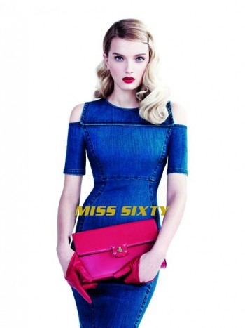 Lily Donaldson Dons Elegant Denim in Miss Sixty Spring '14 Ads