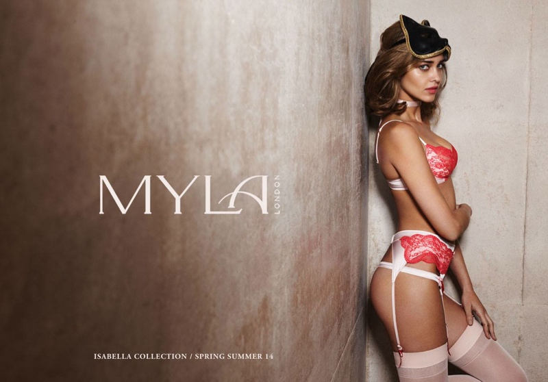 myla spring 2014 ana beatriz barros1 Ana Beatriz Barros Stars in Myla London Lingerie S/S 2014 Campaign