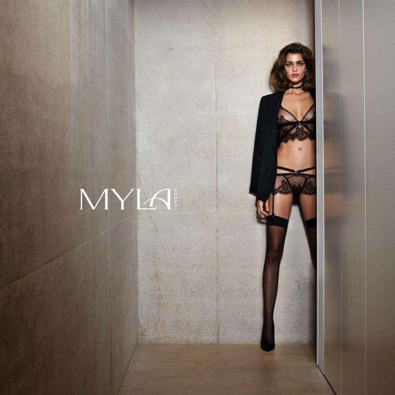 myla spring 2014 ana beatriz barros6 Ana Beatriz Barros Stars in Myla London Lingerie S/S 2014 Campaign