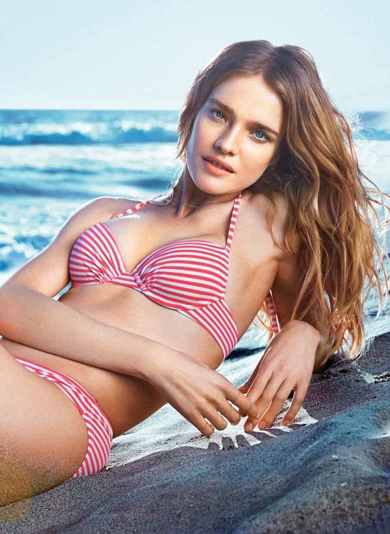 natalia vodianova etam spring 20141 Natalia Vodianova Wows for Etam Spring 2014 Swimwear Campaign