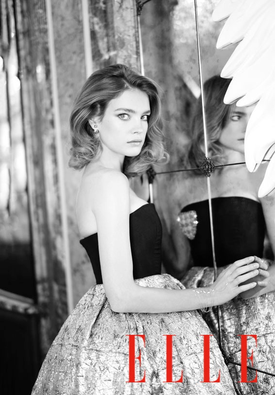 Natalia Vodianova Charms for Mathieu Cesar in Elle China Cover Story